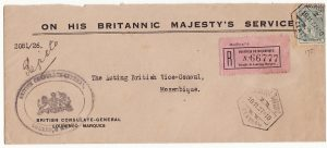 PORT. COLS/MOZAMBIQUE [INTERNAL BRITISH CONSULAR MAIL]
