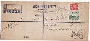 NEWFOUNDLAND [FORMULA  REGISTERED ENVELOPE]