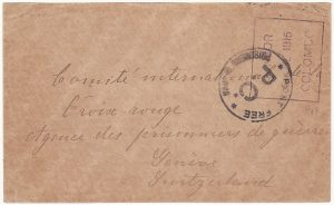 CEYLON-SWITZERLAND [WW1 POW MAIL]