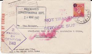AUSTRALIA-SINGAPORE [WW2 SERVICE SUSPENDED]