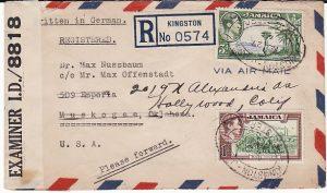 JAMAICA-USA...WW2 CIVIL INTERNEE GIBRALTAR CAMP No 2..