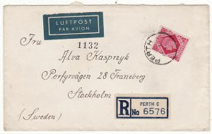 GB-SWEDEN [UNDERCOVER MAIL POLISH FORCES REGISTERED AIRMAIL]