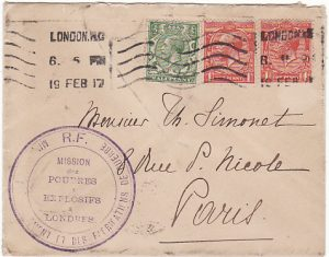 GB-FRANCE [WW1 FRENCH MILITARY MISSION to LONDON]