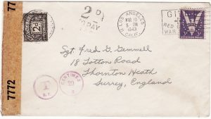 USA-GB [WW2 CENSORED & POSTAGE DUE]