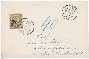 CZECHOSLOVAKIA [USING AUSTRIAN ADHS as POSTAGE DUE]