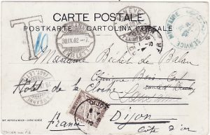 SWITZERLAND-FRANCE [POSTAGE DUE on MILITARY MAIL]