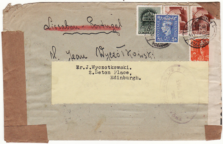 [14496]  HUNGARY-GB [UNDERCOVER MAIL THOMAS COOK BOX 506]  1943(May)