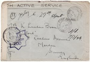 ITALY--GB [WW2 RAF with BASE CENSOR]