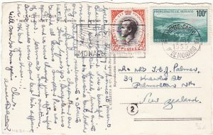 MONACO-NEW ZEALAND [HIGH FRANKING on DESTINATION MAIL]