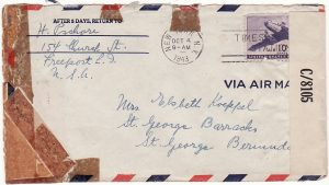 USA-BERMUDA [WW2 INTERNEE MAIL]