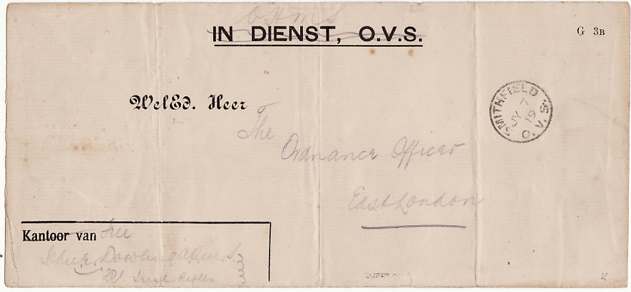 [15015]  BOER WAR [IN DIENST CAPTURED STATIONARY]  1900(Jul 7)