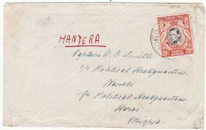 KENYA-ETHIOPIA-BRITISH SOMALILAND [WW2-POLITICAL HQ- MANDERA]