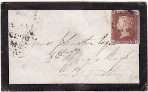 GREAT BRITAIN...1845 MOURNING ENVELOPE to 8th KINGS REGIMENT