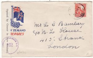 NEW ZEALAND-GB...1942 WW2 PATRIOTIC CENSORED...