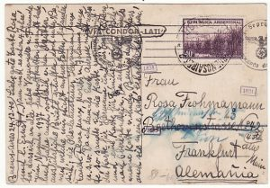 ARGENTINA-GERMANY...1940 WW2 LATI XMAS & NEW YEAR GREETING CARD...