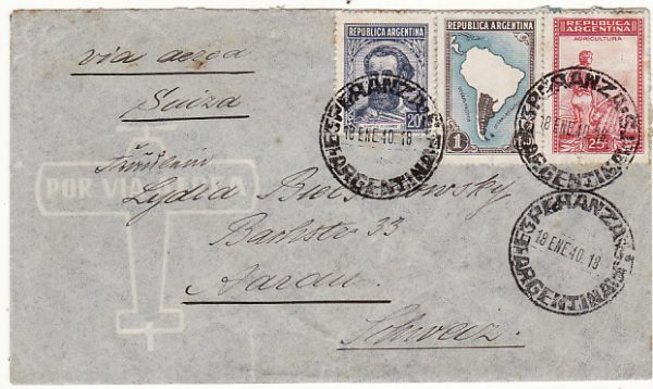 ARGENTINA-SWITZERLAND...1940 WW2 LATI AIRMAIL...