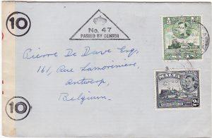 MALTA-BELGIUM...1940 WW2 CENSORED