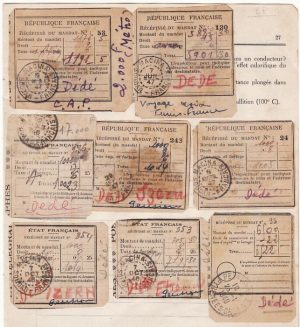 FRENCH SOUDAN [PARCEL RECEIPTS]