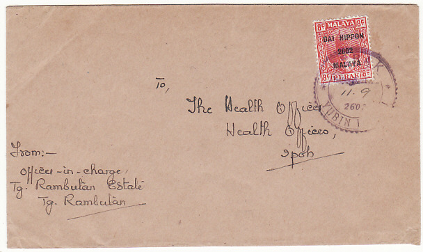 [11457]  MALAYA..PERAK WW2 JAPANESE OCCUPATION...  1942(Sep 11)