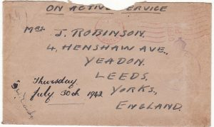 FALKLAND ISLANDS-GB...WW2 TRANSPORT SHIP with LETTER...