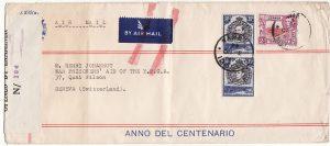 KENYA-SWITZERLAND...WW2 WAR PRISONERS AID of the YMCA..