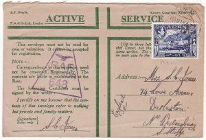 ADEN-GB...WW2 HONOUR ENVELOPE ..