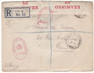 FRANCE...WW1 GB FORCES COMPULSORILY REGISTERED..
