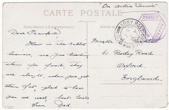 [17430]  FRANCE-GB..1918 WW1 R.N.A.S. In FRANCE..  1918 (Mar 3)