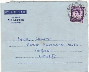 KENYA-GB..1961 PICTORIAL GREETING AIR LETTER from BRITISH FORCES...
