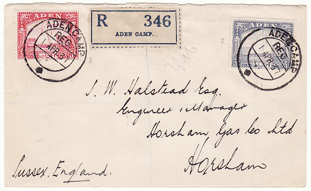 [17494]  ADEN-GB...FIRST DAY of DHOW ISSUES REGISTERED..  1937 (Apr 1)