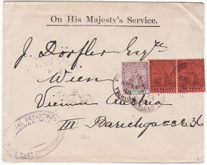 TRINIDAD-AUSTRIA...O.H.M.S BOTANICAL DEPARTMENT..