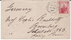 HAWAII-GERMANY...1897 USA POSSESSIONS..