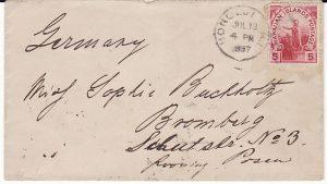 HAWAII-GERMANY...1897 USA POSSESSIONS..