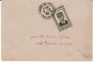 INDO-CHINE...WW2 PETAIN ISSUE on INTERNAL MAIL...