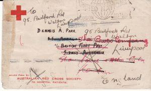 CHINA-AUSTRALIA-GB..WW2 RED X RETURNED MAIL..