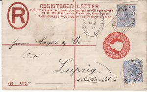 GIBRALTAR - GERMANY.....QV REGISTERED ENVELOPE...