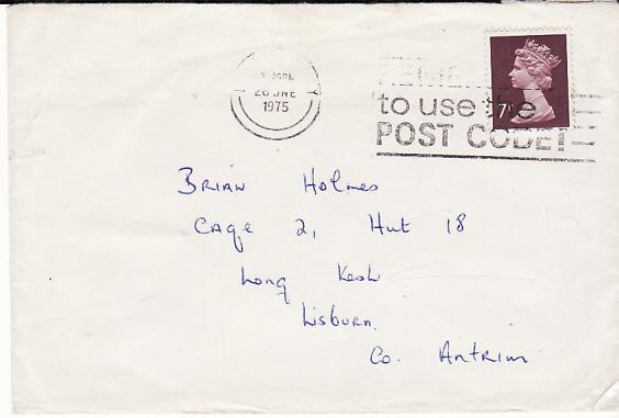 IRELAND... 1975 LONDONDERRY to IRA PRISONER at LONG KESH...