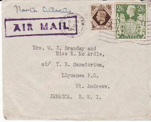 GB - JAMAICA....1940 TRANS ATLANTIC AIRMAIL...