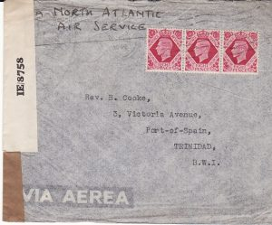 GB - TRINIDAD....1940 TRANS ATLANTIC AIRMAIL...