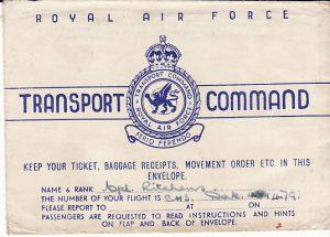 IRAQ - EGYPT....WW2 RAF TRANSPORT COMMAND...