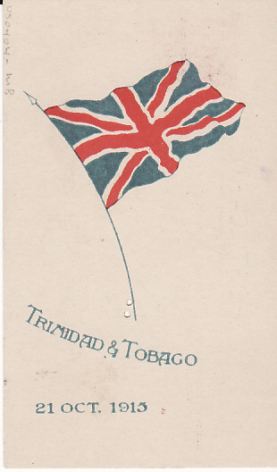 [17683]  TRINIDAD...WW1 PATRIOTIC POSTCARD...  1915 (Oct 21)