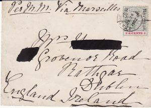 MAURITIUS - IRELAND...1902 POSTAGE & REVENUE OVERPRINT...