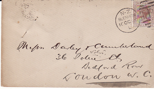 NEW ZEALAND - GB...1890 COMMERCIAL MAIL...