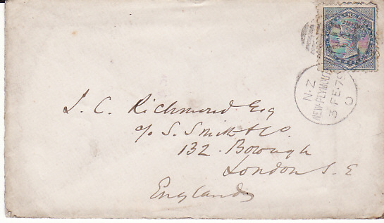 NEW ZEALAND - GB...1879 COMMERCIAL MAIL...