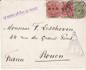 SOUTH AFRICA - FRANCE....BOER WAR.. FRENCH CONSULATE in TRANSVAAL...