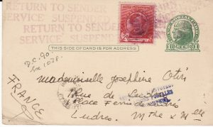 USA - FRANCE...CENSORED BERMUDA & RETURNED TO SENDER...