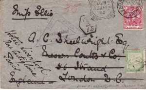 SOUTH AFRICA - GB - FRANCE....BOER WAR COGH FORWARDED & TAXED...