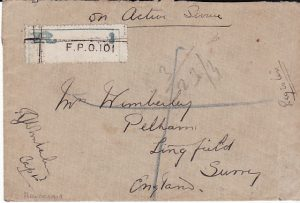 IRAQ - GB...1919 REGISTERED INDIAN FPO 101...