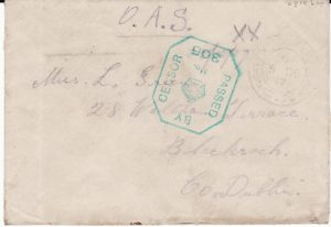 GREECE - IRELAND...1917 UNUSUAL INSTRUCTIONAL LABEL...