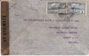"URUGUAY - GB....SCARCE ""THANKS TO THE BRITISH NAVY"" PATRIOTIC LABEL in SPANISH..."